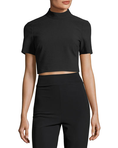 Alder High-Neck Crop Top
