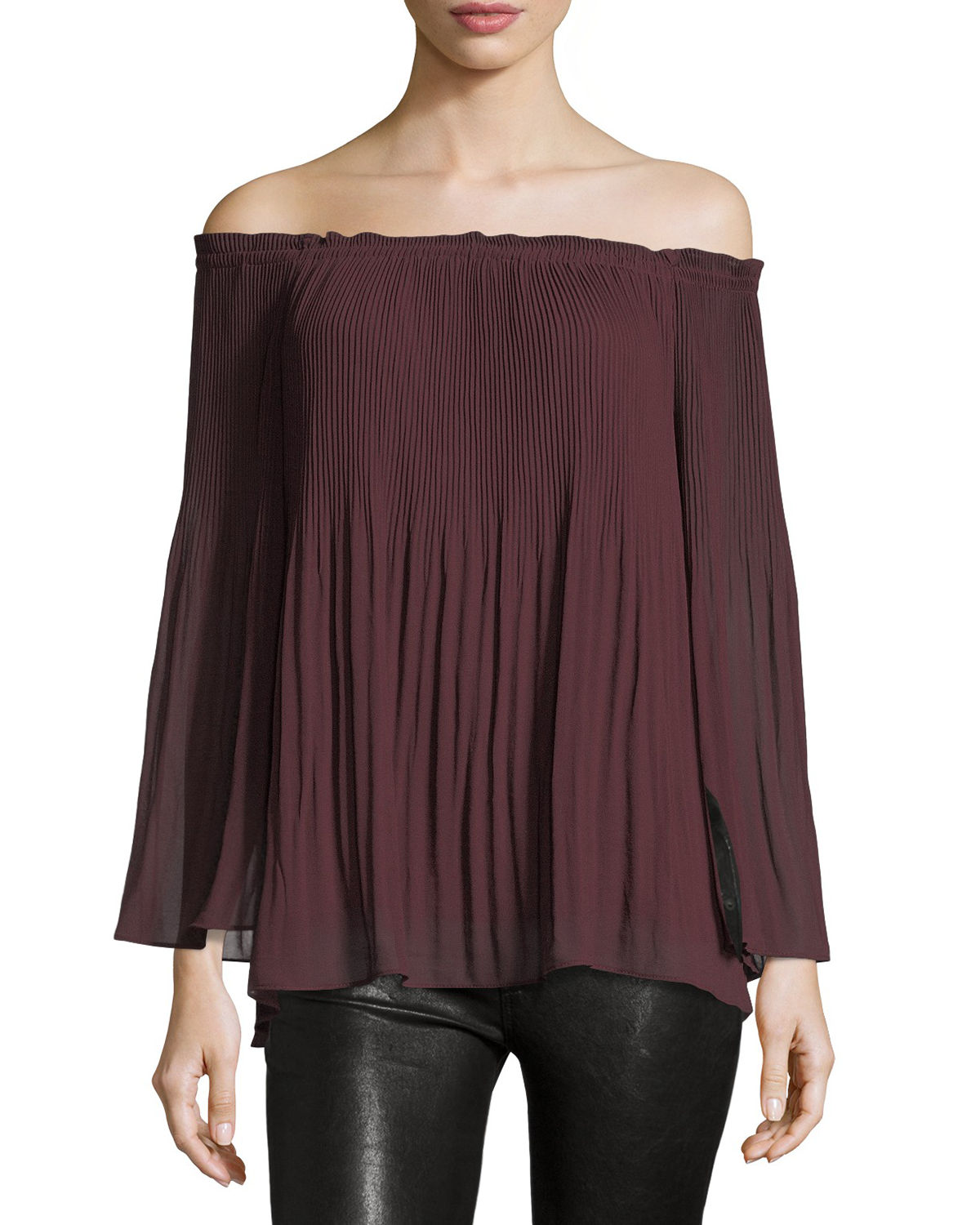 42e9a016dd5 Neiman Marcus Last Call (Neiman Marcus) – Off-the-Shoulder Georgette Blouse  –  62.00