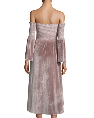 Miranda Off-the-Shoulder Velvet Dress