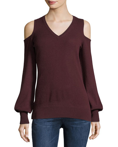 Cashmere Cold-Shoulder Sweater