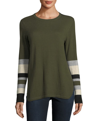 Cashmere-Blend Varsity Pop Rocks Sweater