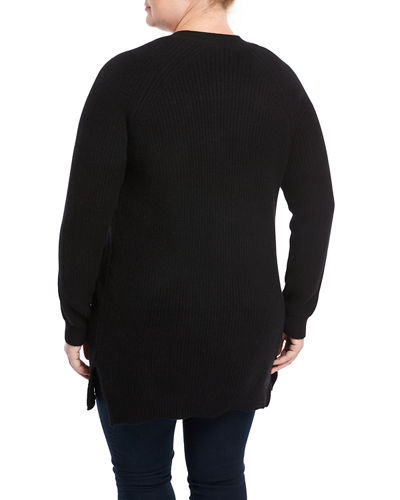 Cashmere Throw-On Cardigan, Plus Size