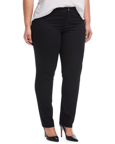 Thompson Boot-Cut Twill Pants, Plus Size