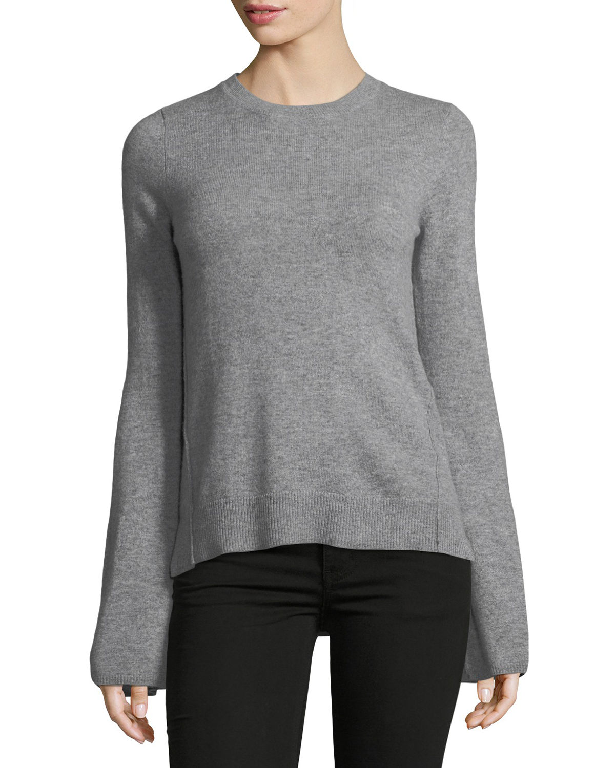 Cashmere Bell-Sleeve...