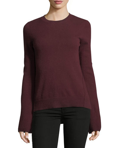 Cashmere Bell-Sleeve Sweater