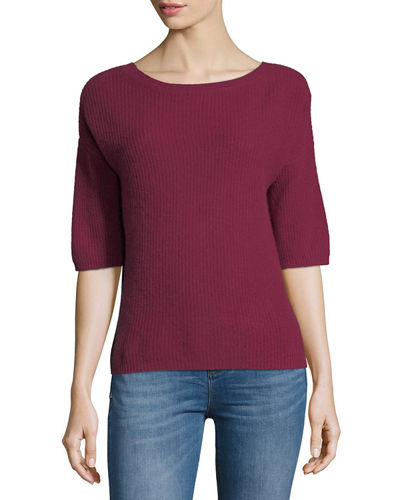 Cashmere Half-Sleeve Sweater