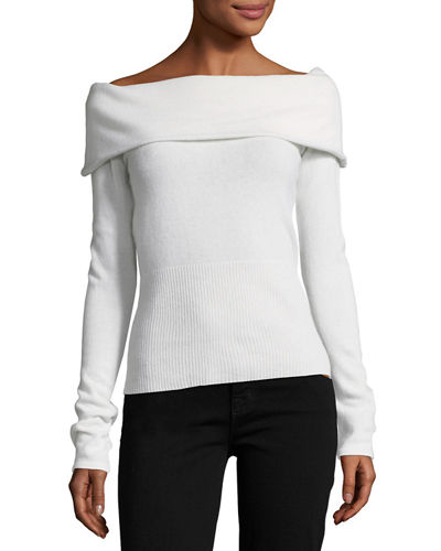 Cashmere Off-the-Shoulder Sweater