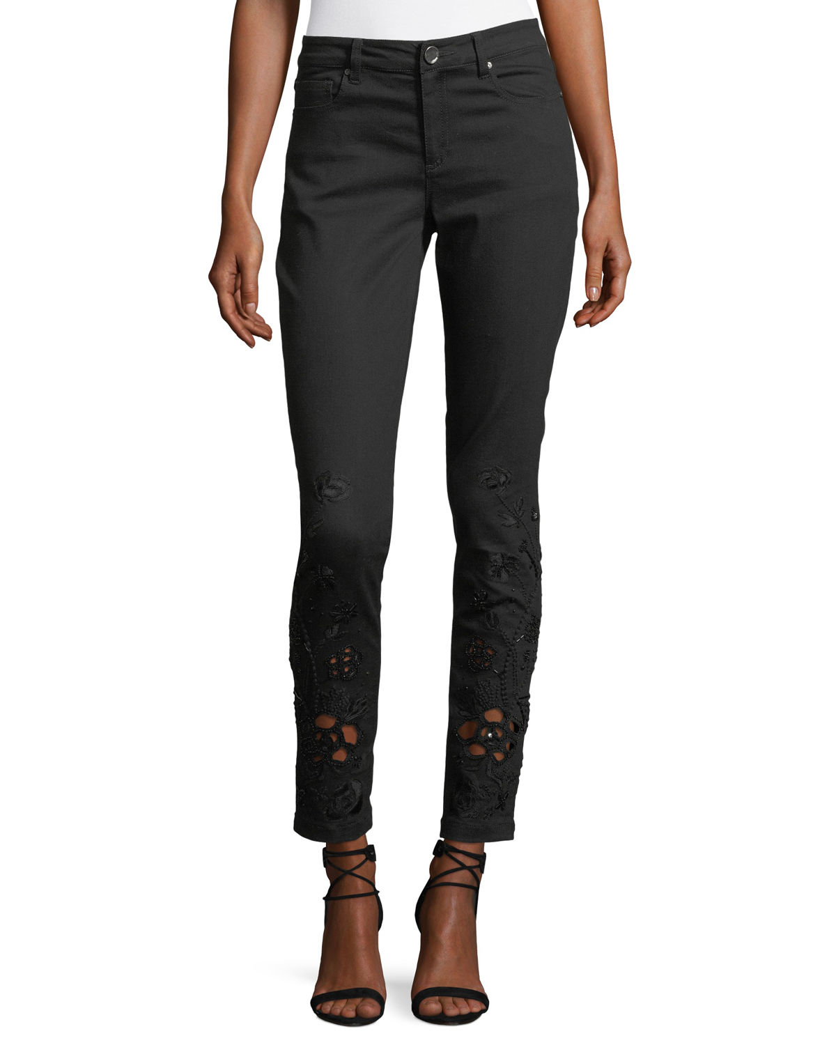 Azella Embroidered Skinny Jeans