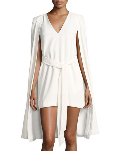 Limitless Solid Cape Dress