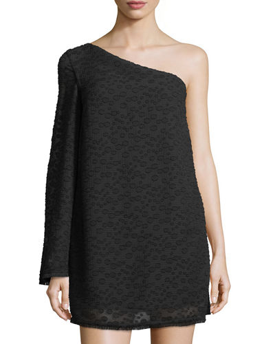 Static Space One-Shoulder Dress