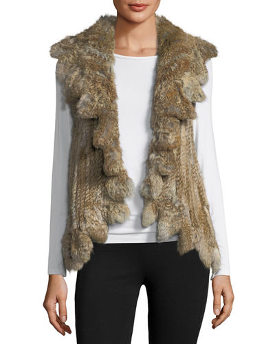 Ruffled Rabbit Fur Vest
