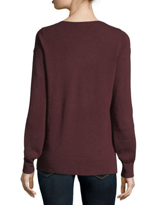 Cashmere Blouson-Sleeve Sweater Christopher Fischer