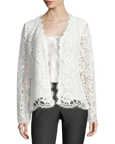 Button-Front Lace Jacket