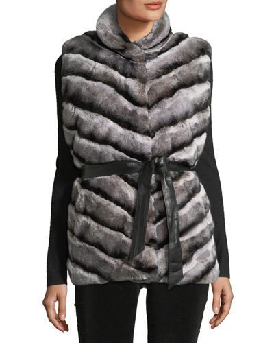Rabbit Fur Reversible Down Jacket