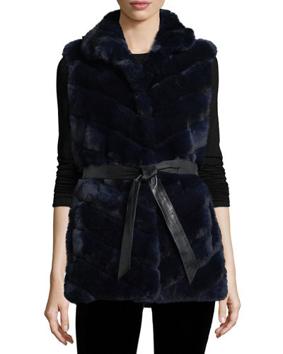 Gorski Rabbit Fur Reversible Down Jacket
