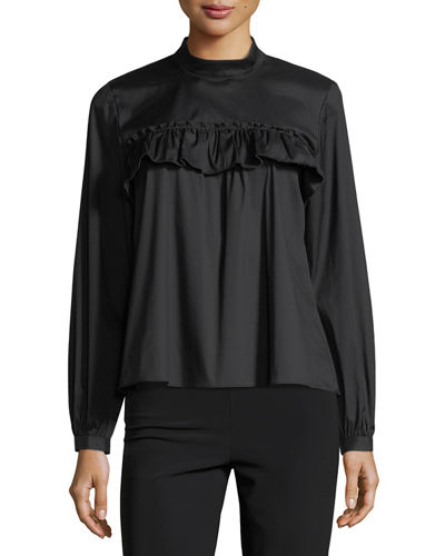 Bella Ruffled Satin Top