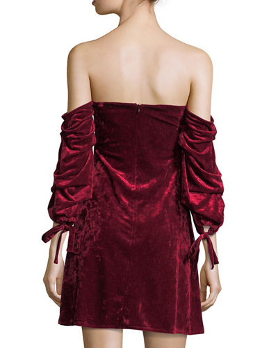 Velvet Off-the-Shoulder Dress