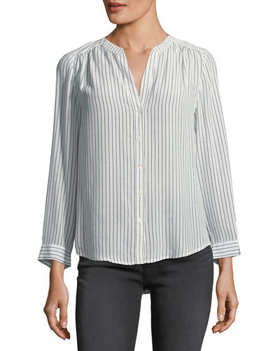 ff6848e8674d00 JOIE KIRA STRIPED SILK BLOUSE