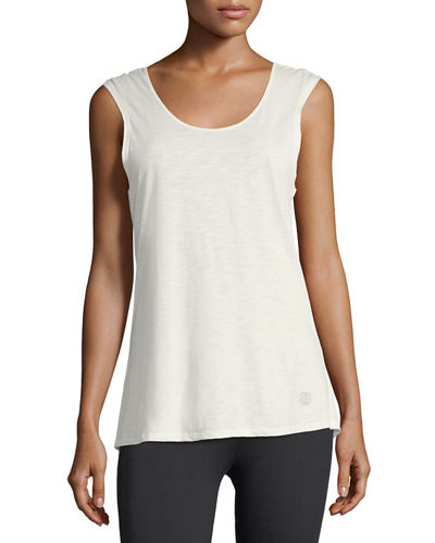 Claudia Caged Cowl-Neck Tank Top