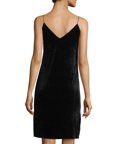 Beaded & Embroidered Velvet Slip Dress