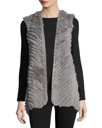 High-Low Fur Vest