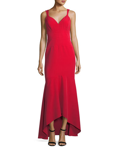 High-Low Trumpet Evening Gown