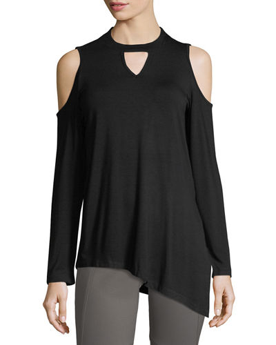 Mock-Neck Asymmetric Tunic