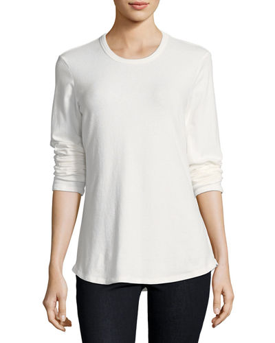 Soft Brush-Jersey Long-Sleeve Tee