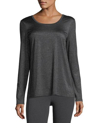 Long-Sleeve Tee with Lace-Up Back Detail