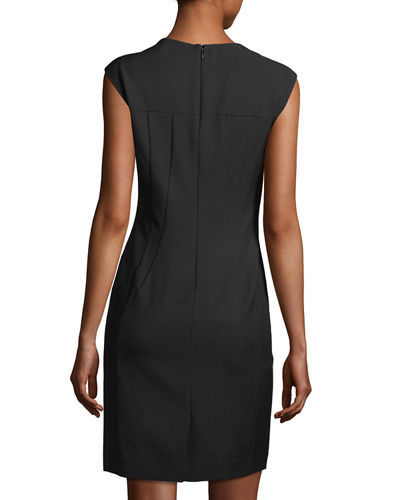 Solid Bi-Stretch Sheath Dress