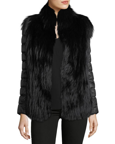 Fox Fur Jacket w/ Removable Down Sleeves