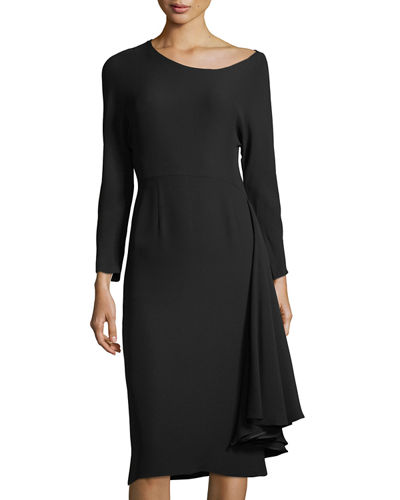 Long-Sleeve Fit-and-Flare Dress