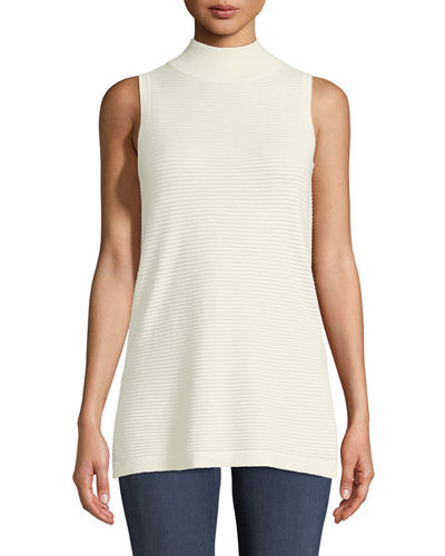 Neiman Marcus Cashmere Collection Cashmere-Blend Sleeveless