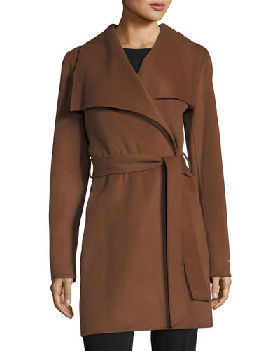 Ella Double-Face Wrap Coat