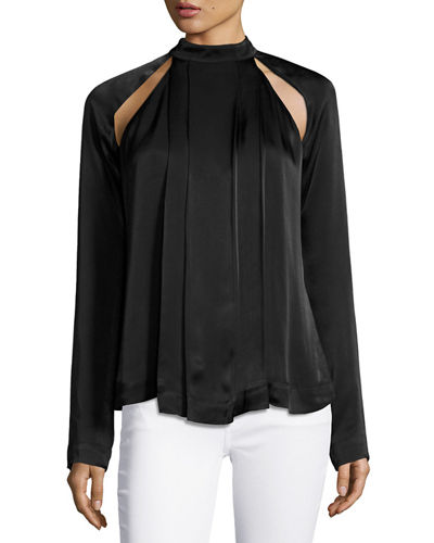 Can't Resist Cutout Satin Top