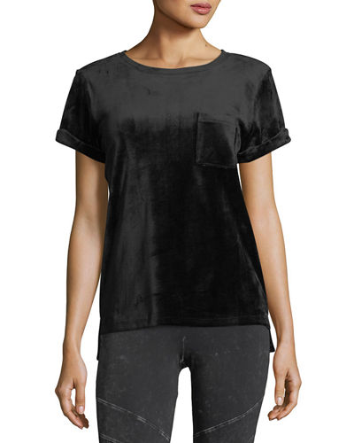 Velvet Short-Sleeve Pocket Tee