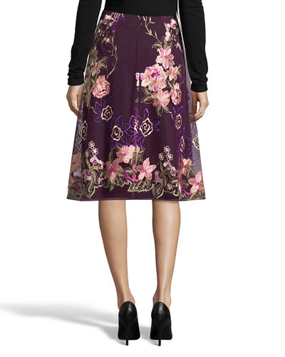 Outlet Store Locations Free Shipping With Credit Card A-Line Floral-Embroidered Skirt 5twelve Footlocker Finishline Online 1AV3TAMMl