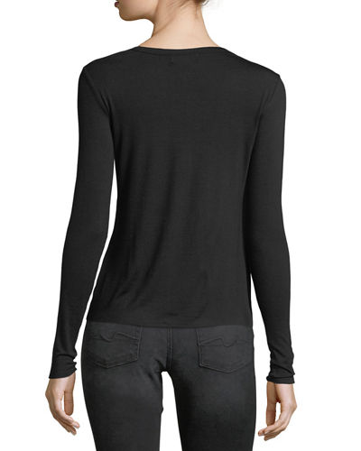 Cutout Long-Sleeve Tee