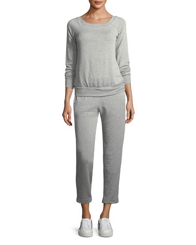 Long-Sleeve Fleece Jumpsuit