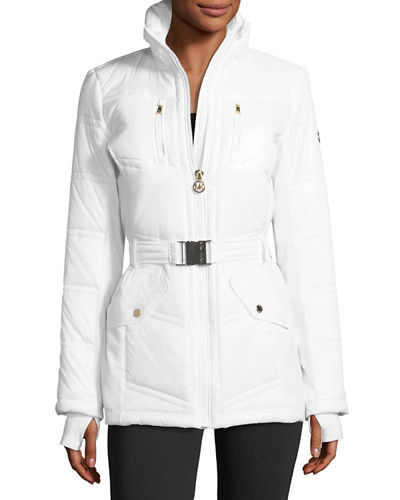 Belted Active Puffer Jacket