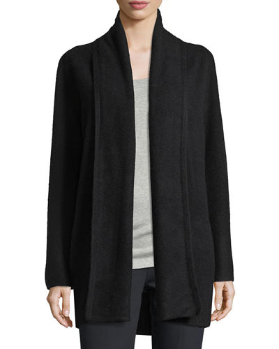 Cashmere Long Open Cardigan