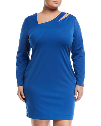 Cutout Sheath Dress, Plus Size