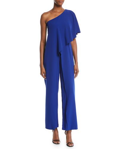 One-Shoulder Ruffled Jumpsuit