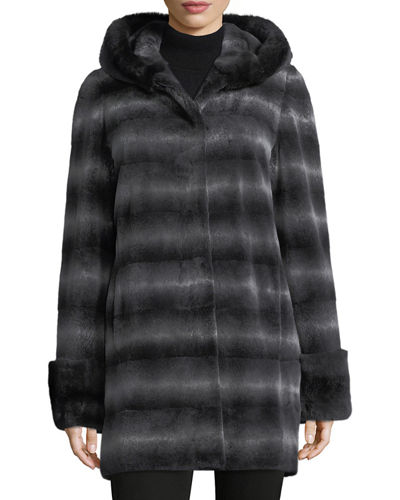 Hooded Rabbit Fur Parka