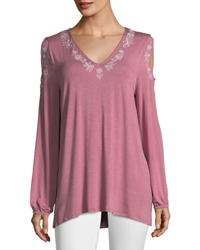Cold-Shoulder Peasant Tee