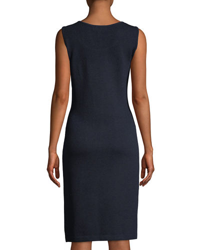 Santana Knit Sleeveless Fitted Dress