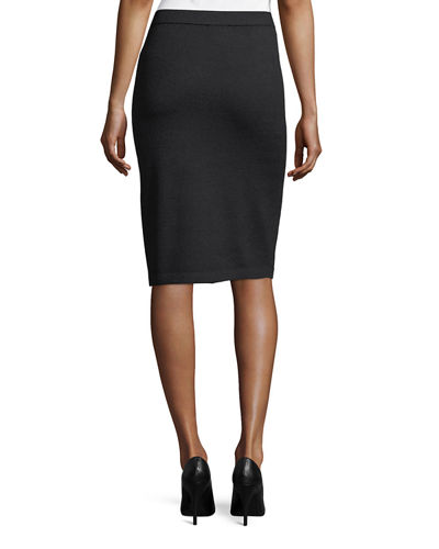Santana Wool Knit Pencil Skirt