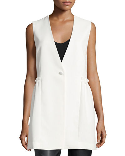 Laundry By Shelli Segal Ruffle-Side Vest