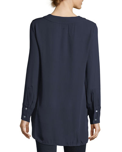 Emerson Silk Chiffon V-Neck Blouse