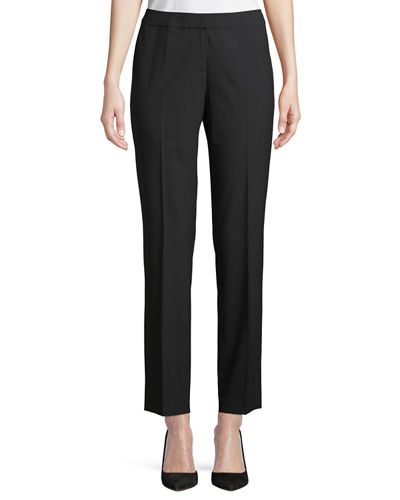 Flat-Front Stretch Pants